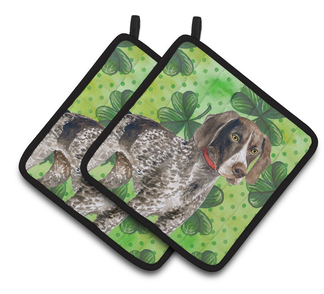 Buy this German Shorthaired Pointer St Patrick's Pair of Pot Holders BB9815PTHD