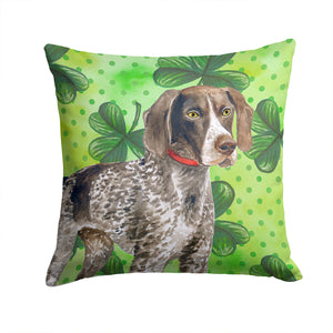 Buy this German Shorthaired Pointer St Patrick's Fabric Decorative Pillow BB9815PW1414