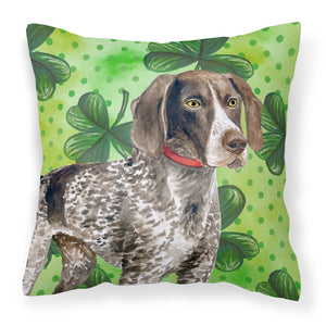 Buy this German Shorthaired Pointer St Patrick's Fabric Decorative Pillow BB9815PW1818