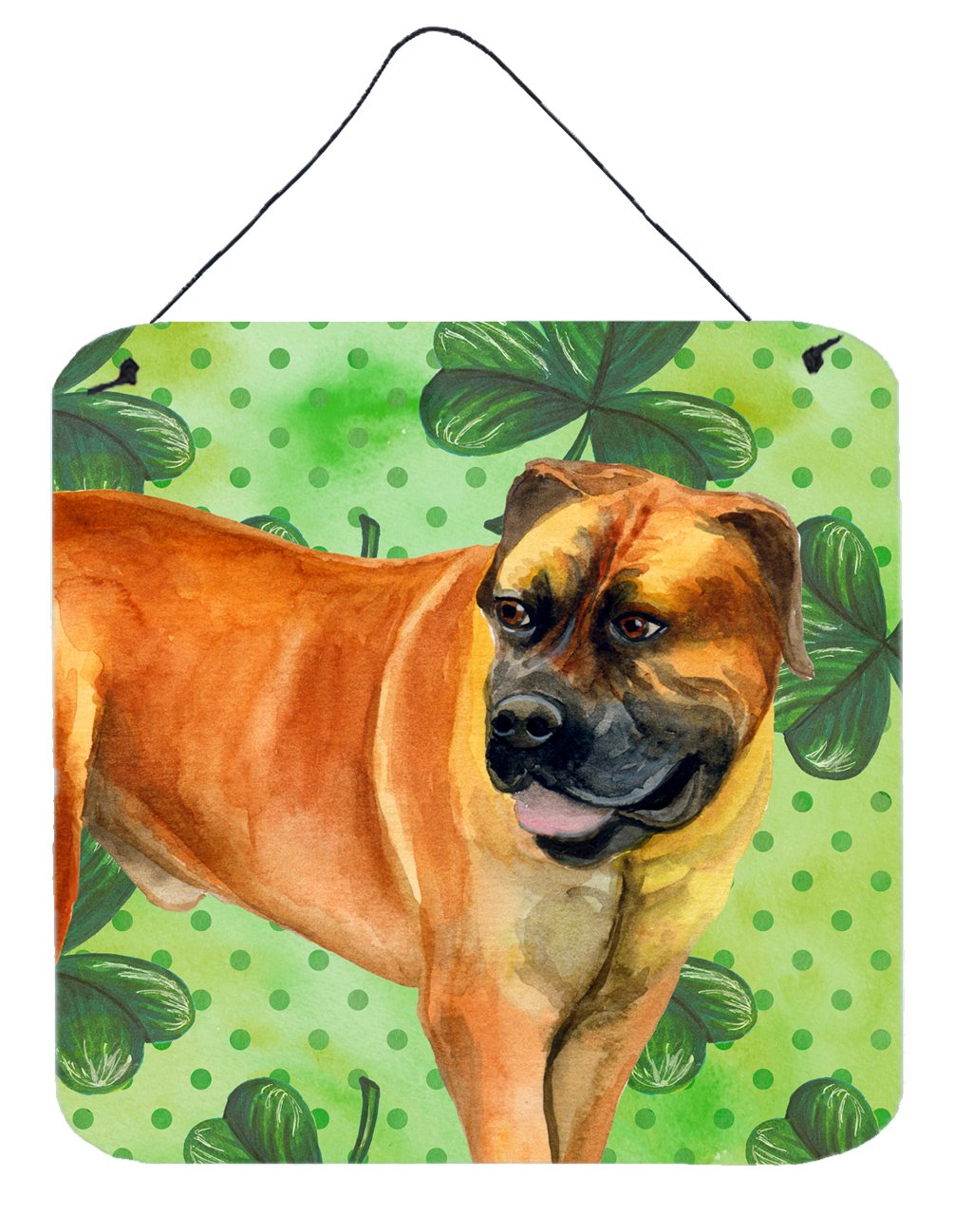 Boerboel Mastiff St Patrick's Wall or Door Hanging Prints BB9820DS66 by Caroline's Treasures