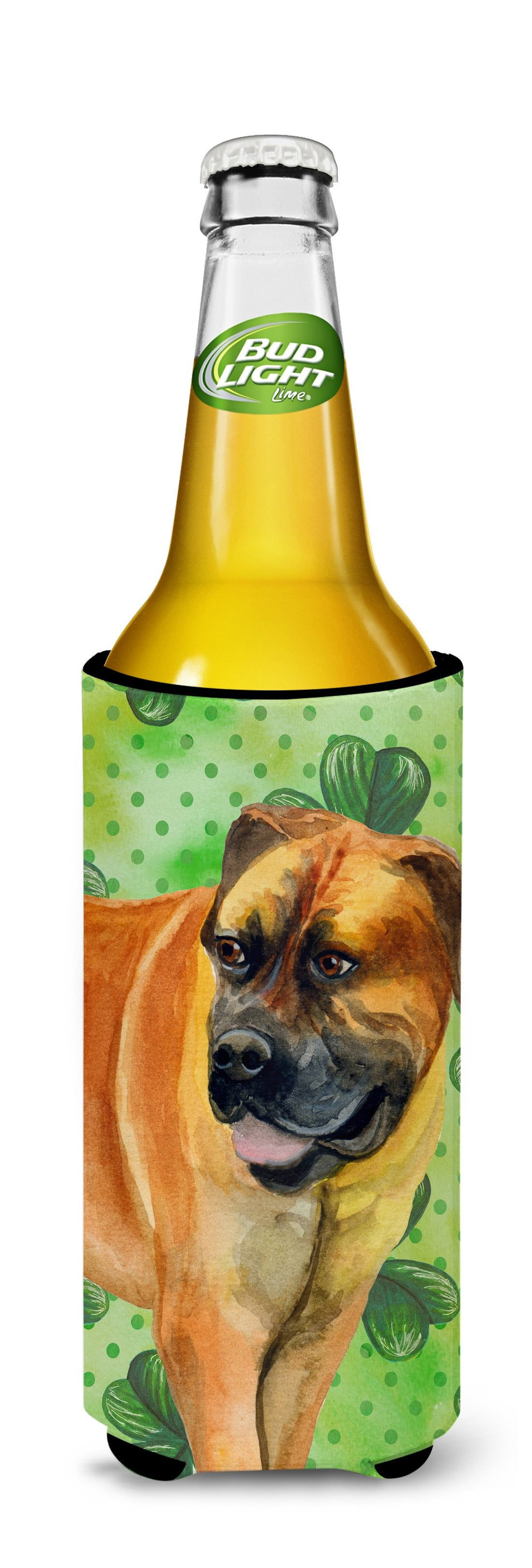 Boerboel Mastiff St Patrick's Michelob Ultra Hugger for slim cans BB9820MUK by Caroline's Treasures