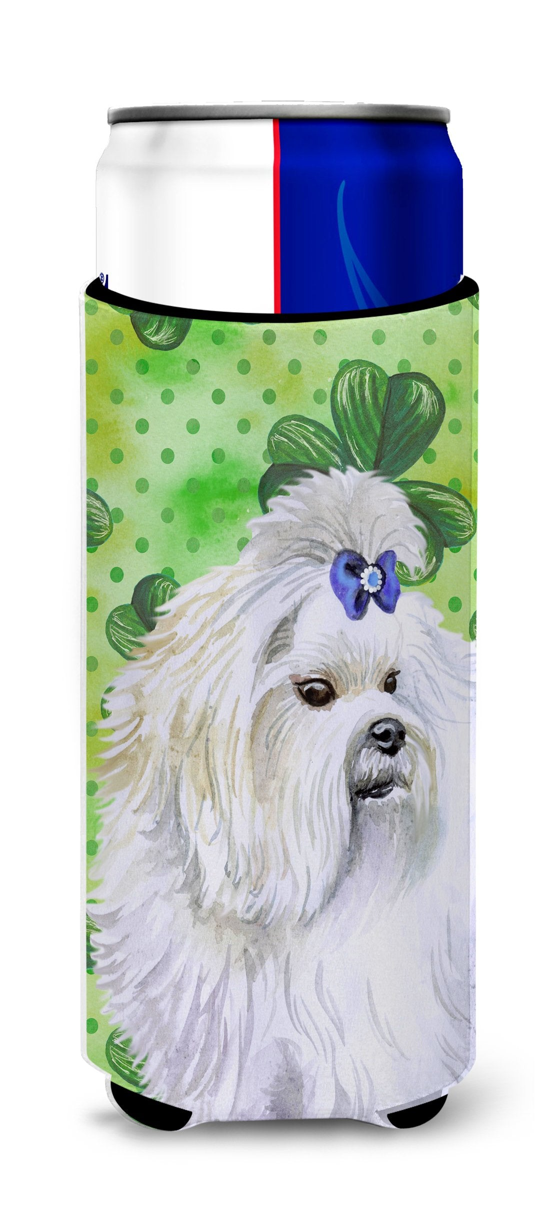 Maltese St Patrick's Michelob Ultra Hugger for slim cans BB9825MUK by Caroline's Treasures