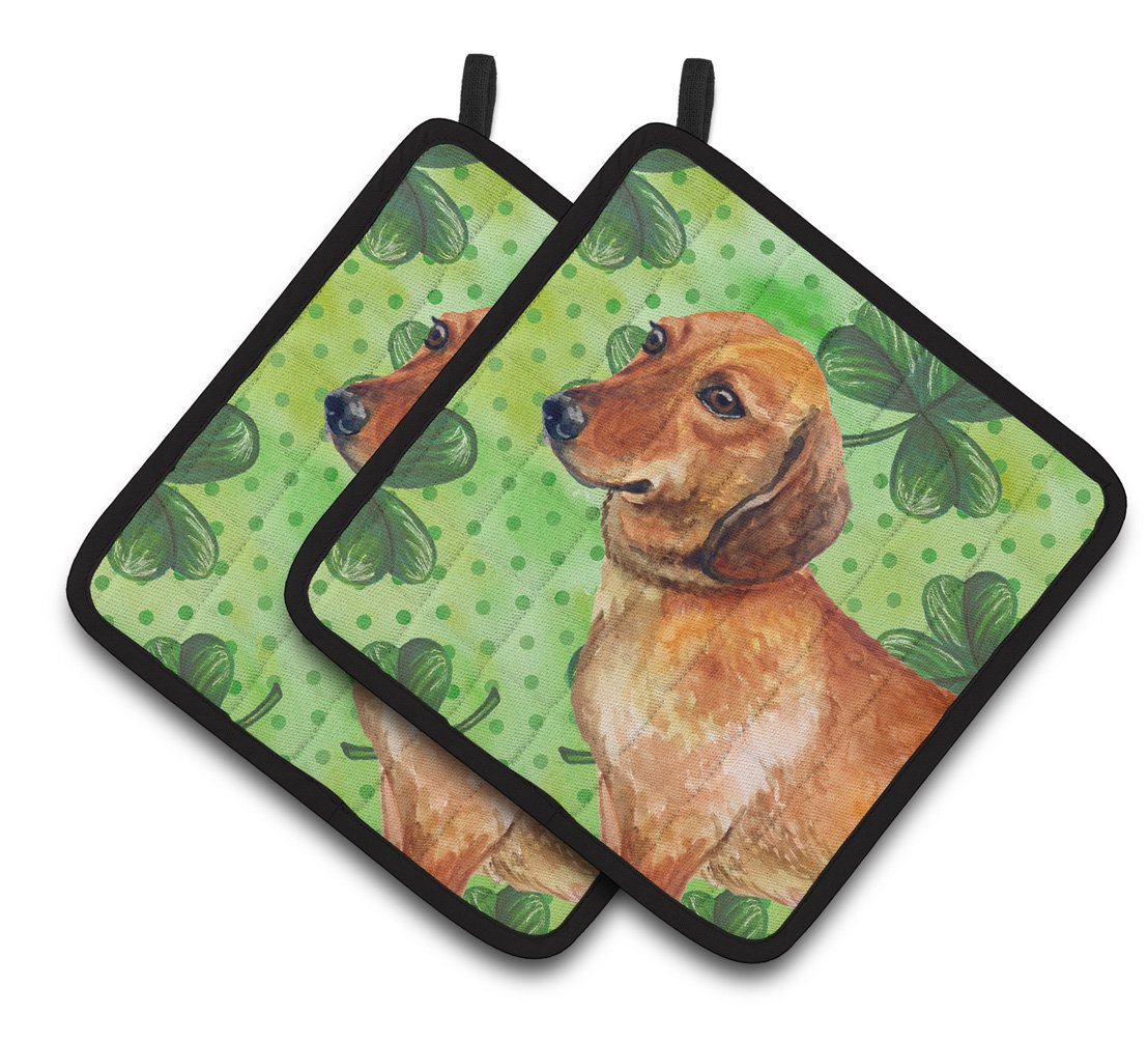Dachshund St Patrick's Pair of Pot Holders BB9826PTHD by Caroline's Treasures