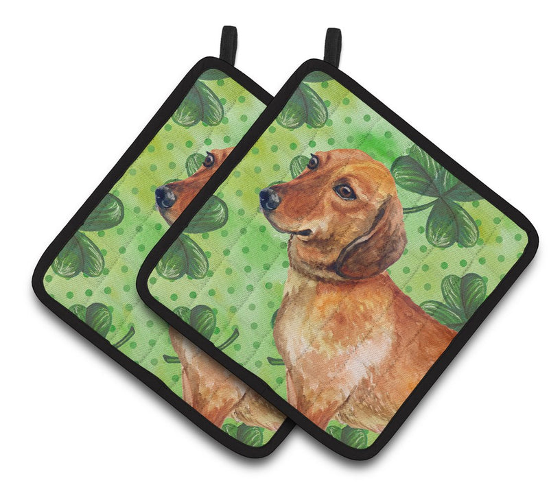 Buy this Dachshund St Patrick's Pair of Pot Holders BB9826PTHD