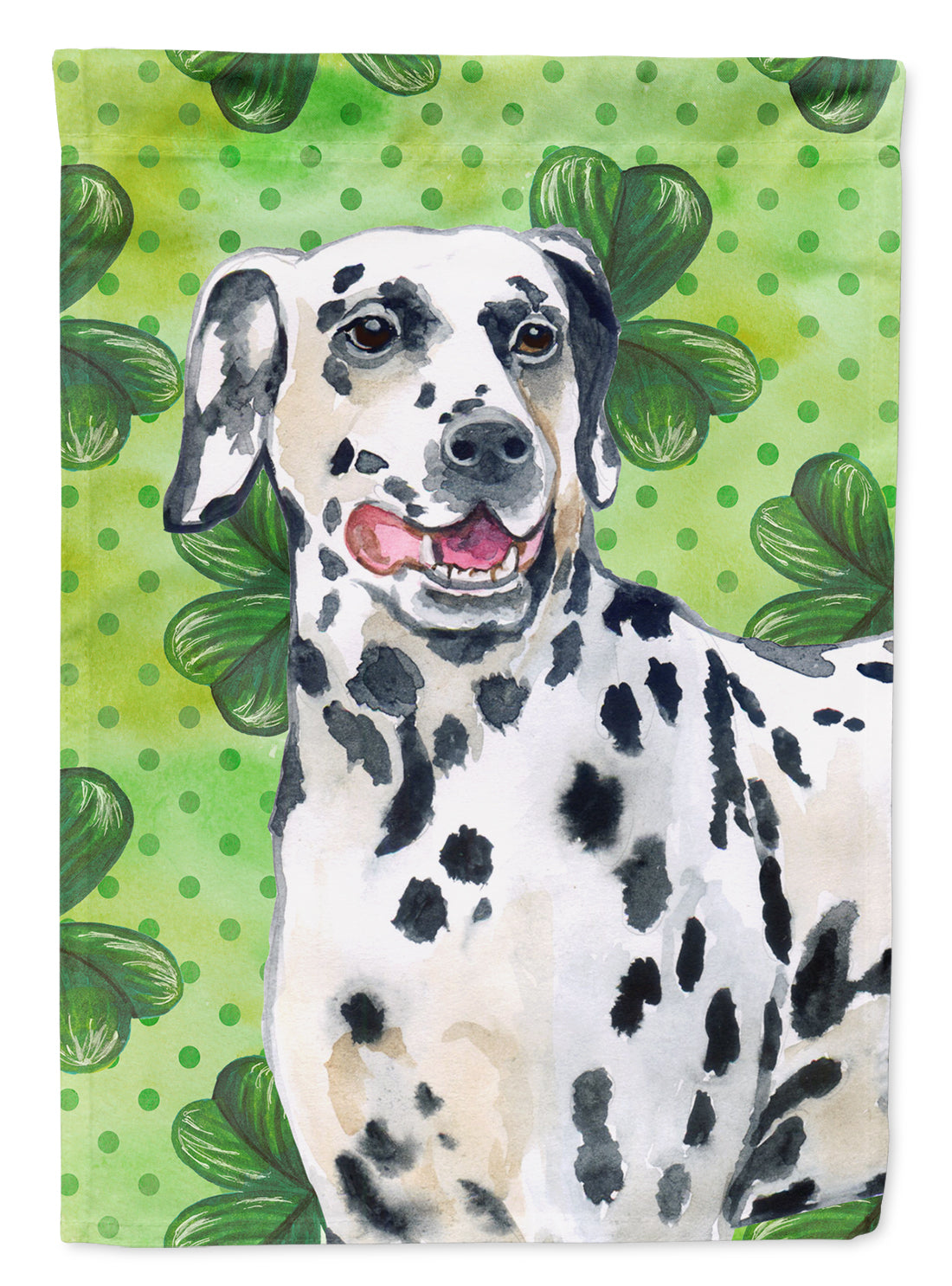 Dalmatian St Patrick's Flag Canvas House Size BB9827CHF by Caroline's Treasures