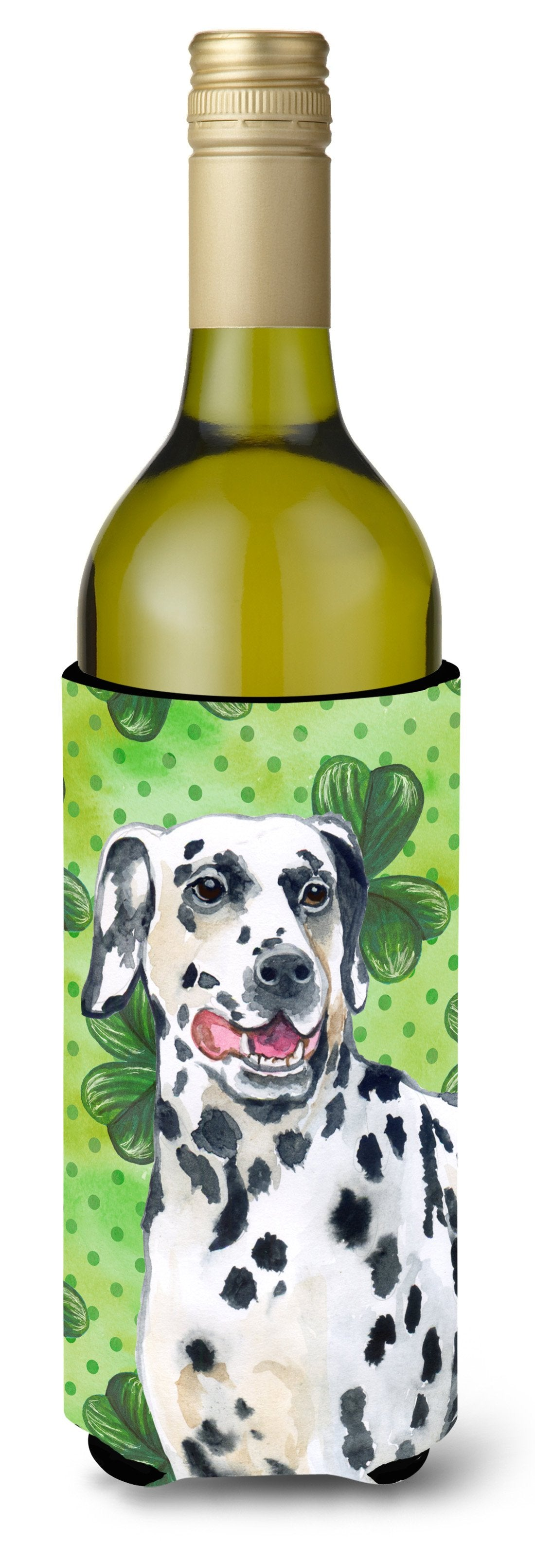Dalmatian St Patrick's Wine Bottle Beverge Insulator Hugger BB9827LITERK by Caroline's Treasures
