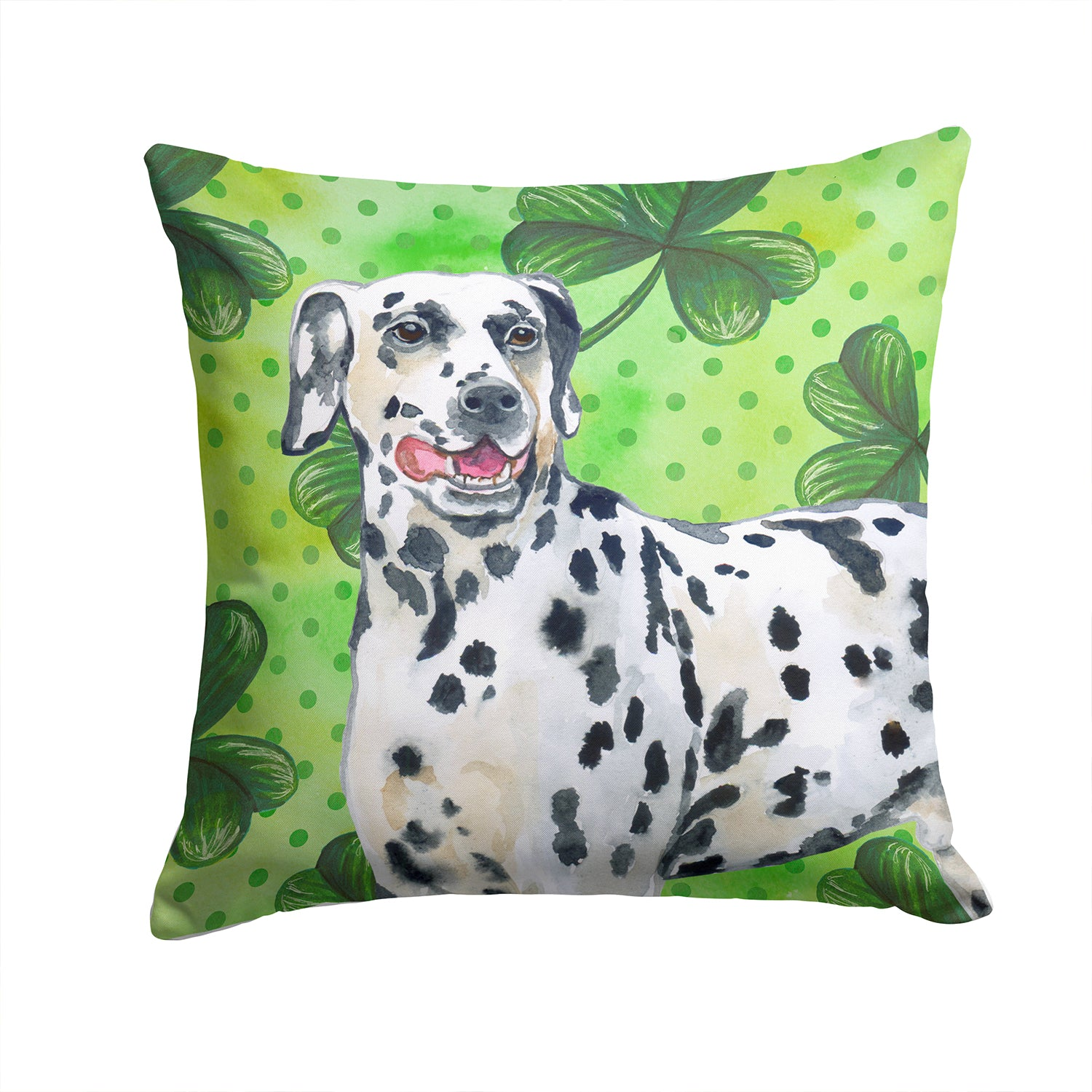 Buy this Dalmatian St Patrick's Fabric Decorative Pillow BB9827PW1414