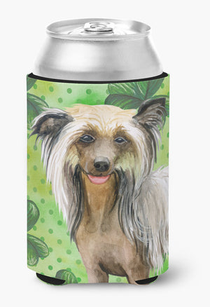 Buy this Chinese Crested St Patrick's Can or Bottle Hugger BB9833CC