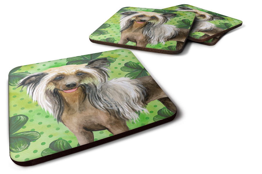 Buy this Chinese Crested St Patrick's Foam Coaster Set of 4 BB9833FC