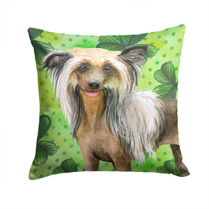Buy this Chinese Crested St Patrick's Fabric Decorative Pillow BB9833PW1414