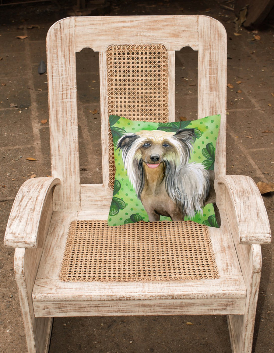 Buy this Chinese Crested St Patrick's Fabric Decorative Pillow BB9833PW1818