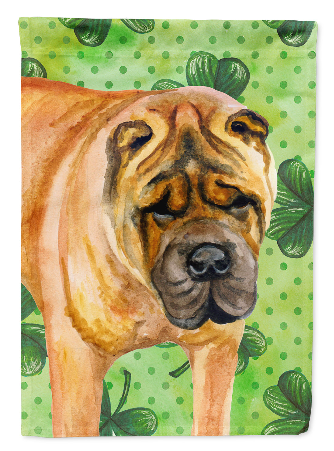 Buy this Shar Pei St Patrick's Flag Canvas House Size BB9835CHF