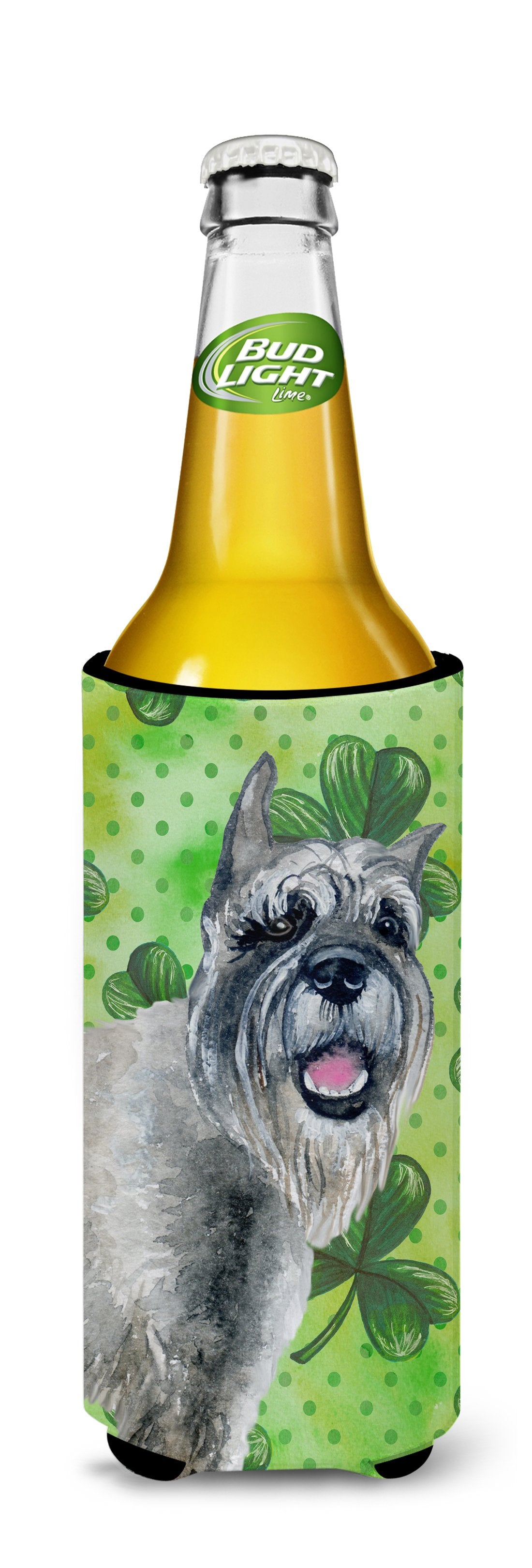 Schnauzer St Patrick's Michelob Ultra Hugger for slim cans BB9836MUK by Caroline's Treasures
