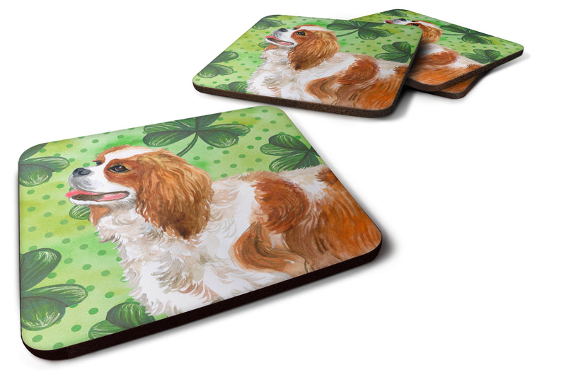 Buy this Set of 4 Cavalier Spaniel St Patrick's Foam Coasters Set of 4