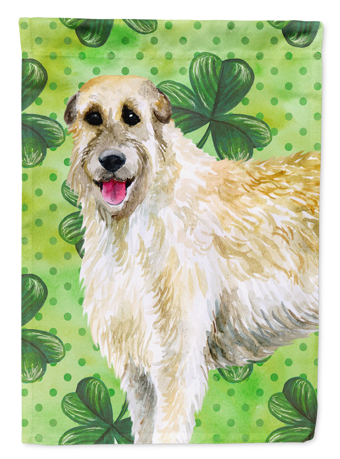 Irish Wolfhound St Patrick's Flag Canvas House Size BB9844CHF by Caroline's Treasures