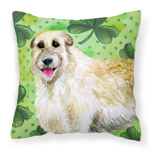 Buy this Irish Wolfhound St Patrick's Fabric Decorative Pillow BB9844PW1818