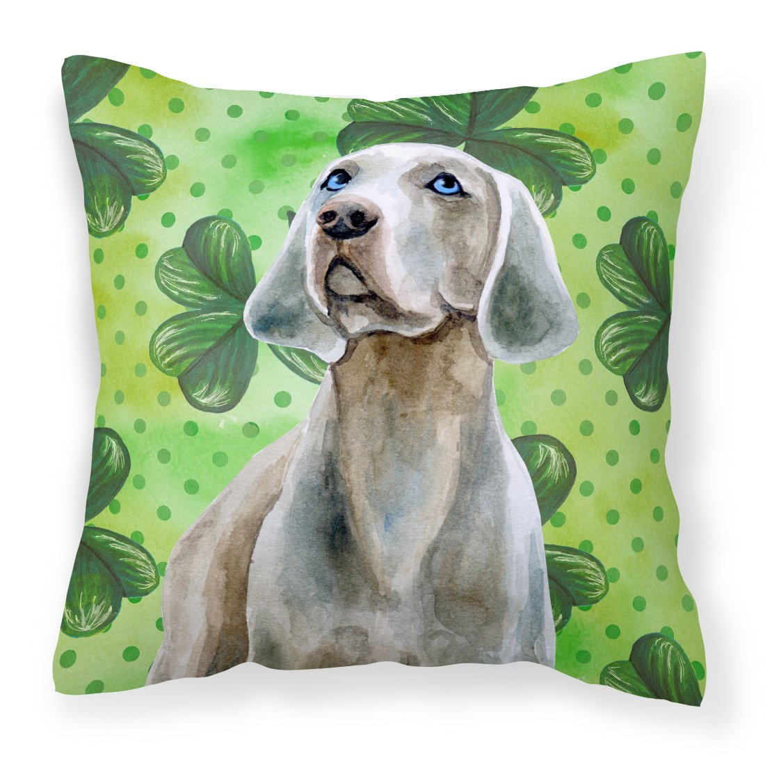 Buy this Weimaraner St Patrick's Fabric Decorative Pillow BB9848PW1818