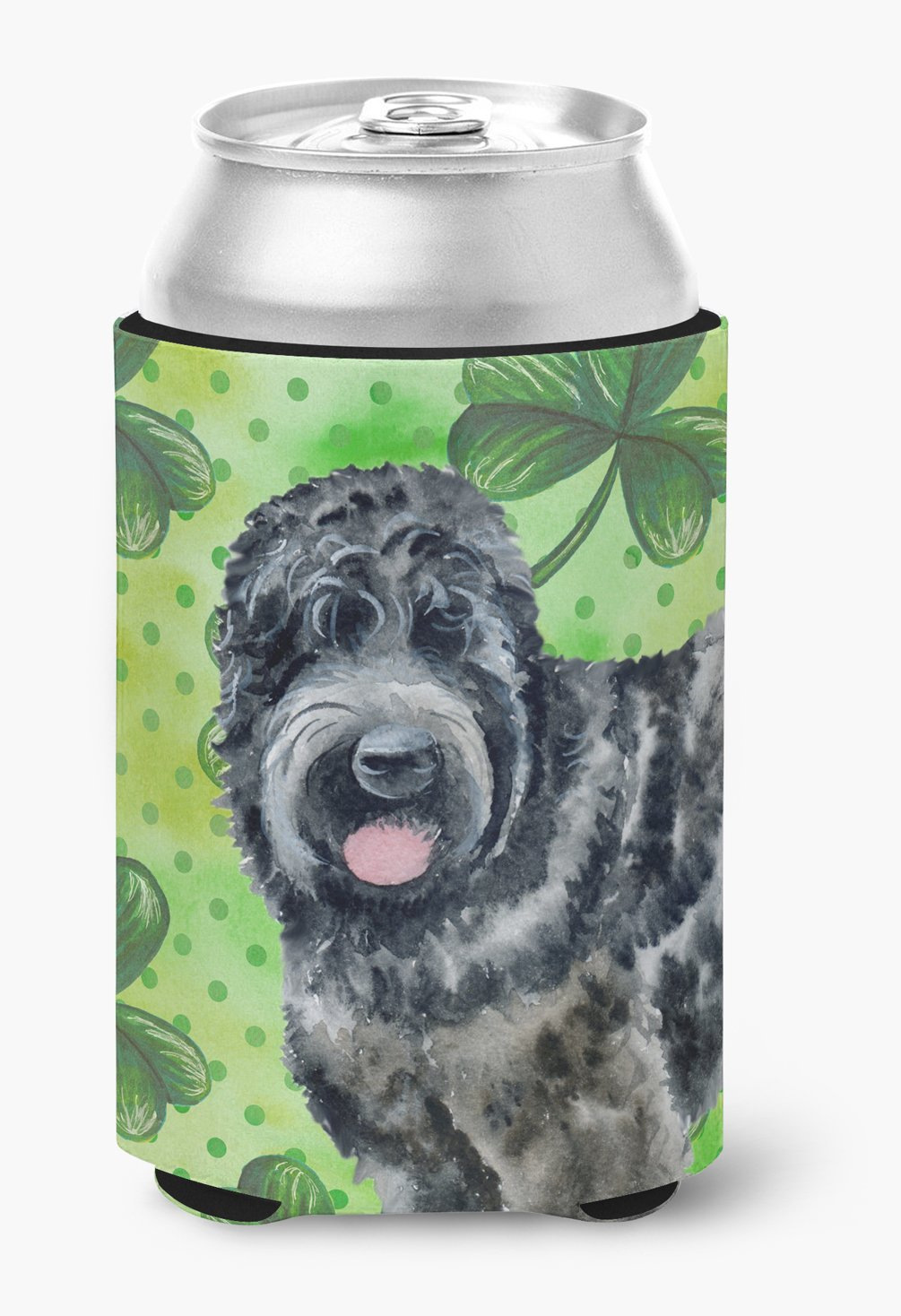 Buy this Black Russian Terrier St Patrick's Can or Bottle Hugger BB9851CC