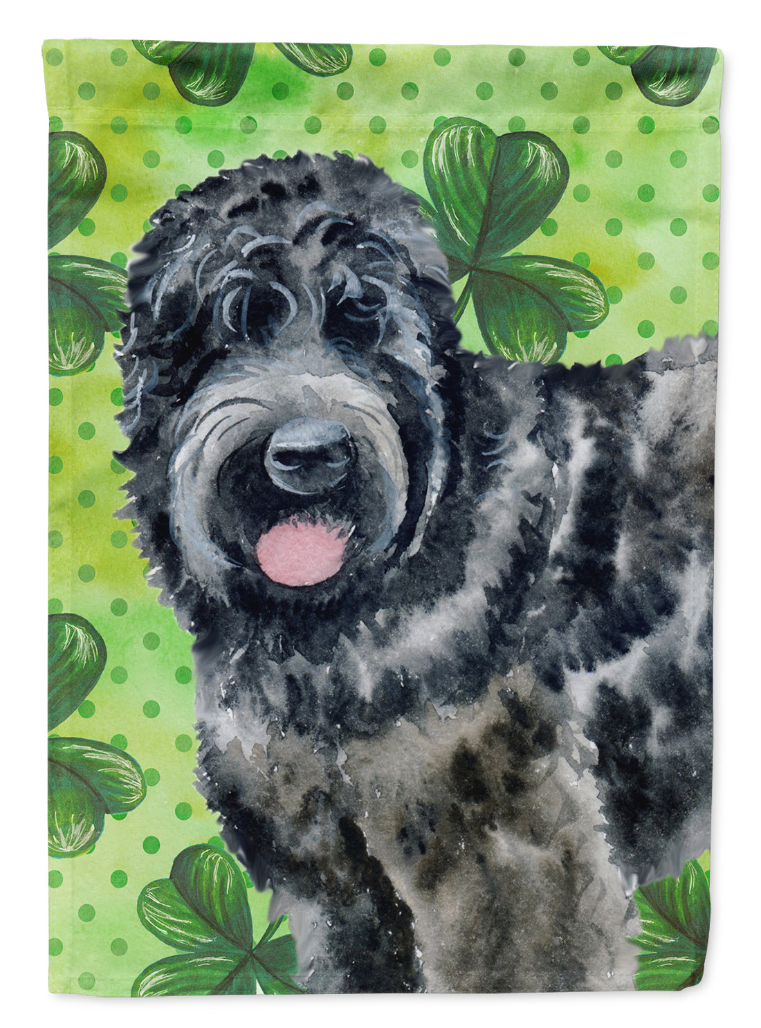 Black Russian Terrier St Patrick's Flag Canvas House Size BB9851CHF by Caroline's Treasures