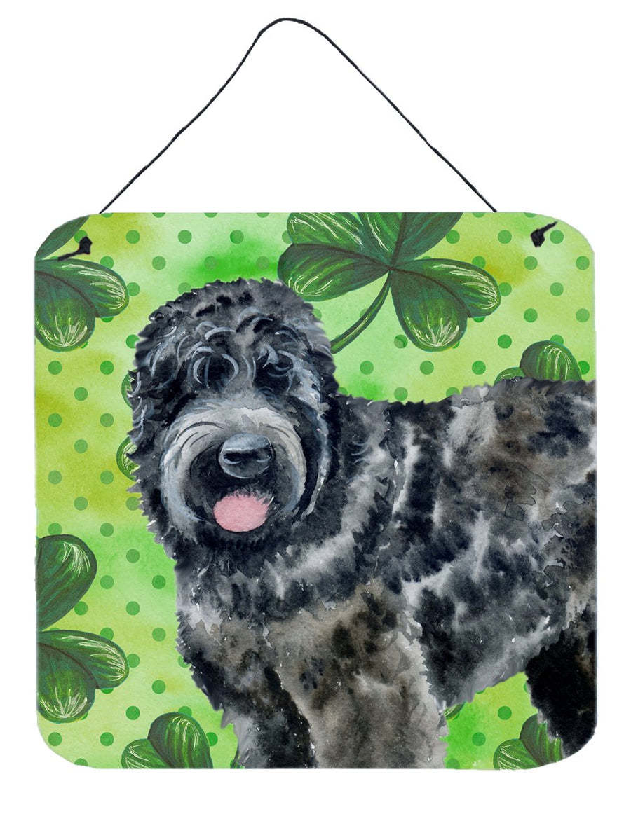 Buy this Black Russian Terrier St Patrick's Wall or Door Hanging Prints BB9851DS66