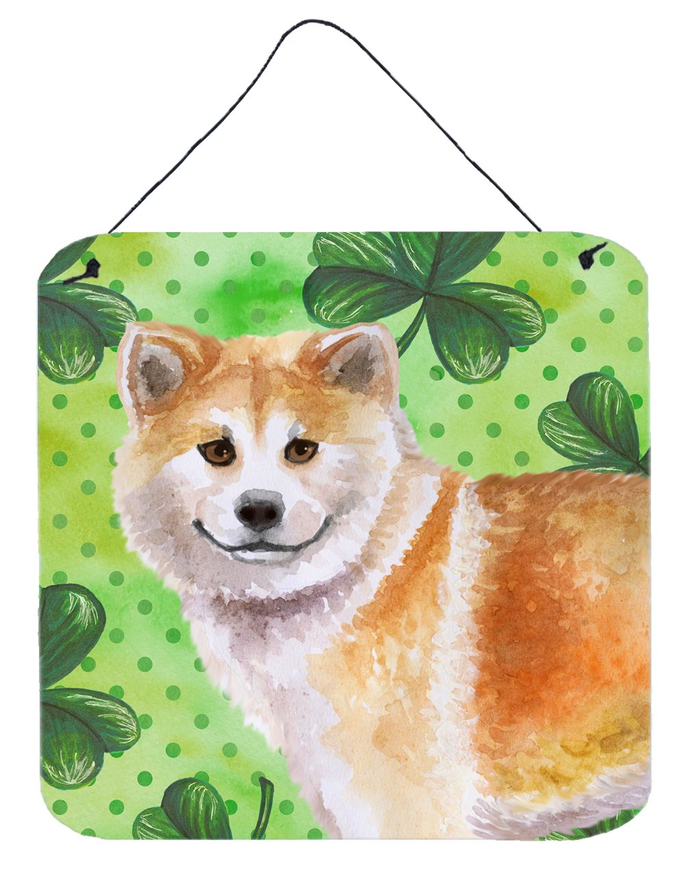 Buy this Shiba Inu St Patrick's Wall or Door Hanging Prints BB9852DS66