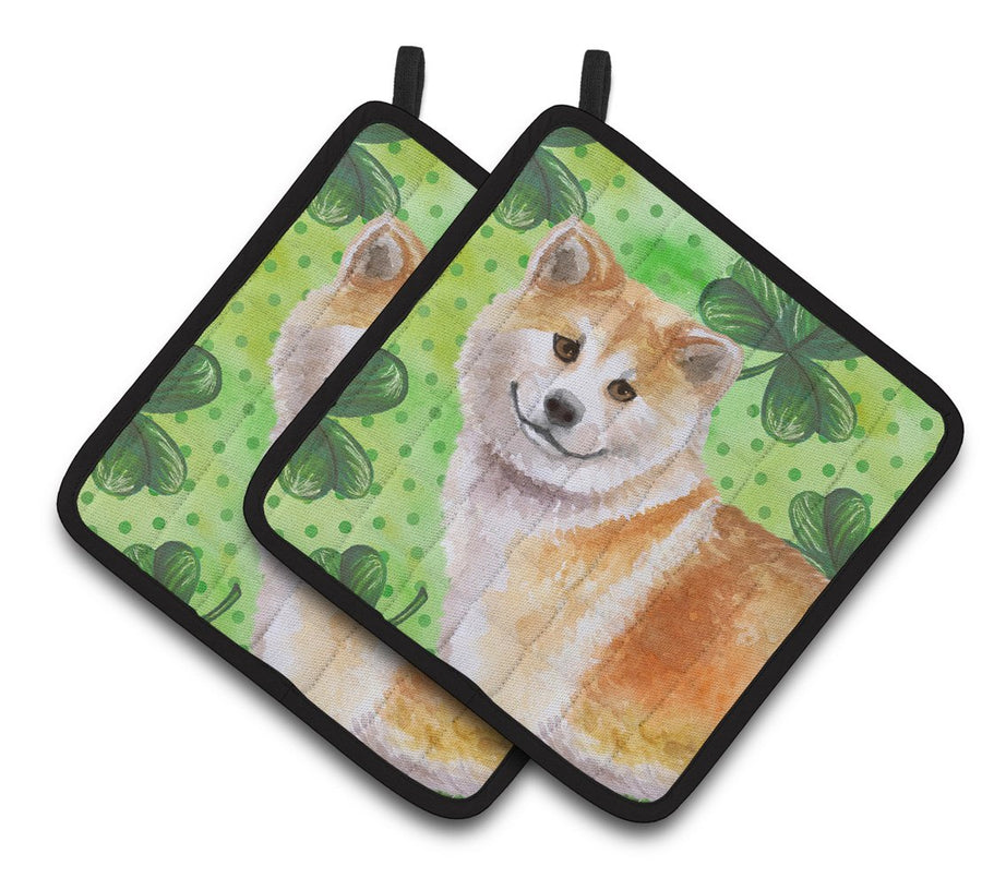 Buy this Shiba Inu St Patrick's Pair of Pot Holders BB9852PTHD
