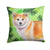 Buy this Shiba Inu St Patrick's Fabric Decorative Pillow BB9852PW1414
