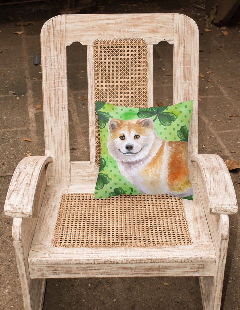 Buy this Shiba Inu St Patrick's Fabric Decorative Pillow BB9852PW1818