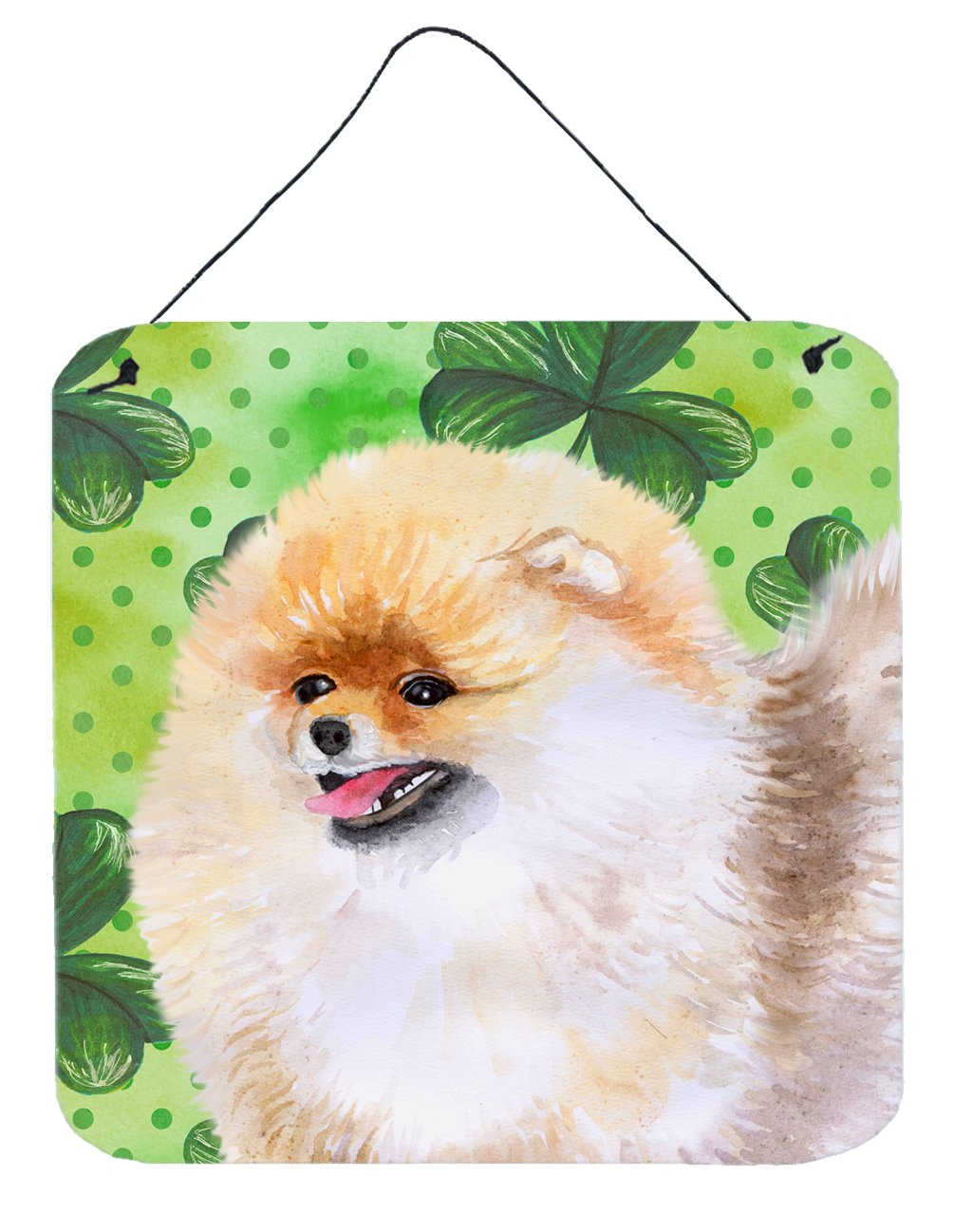 Pomeranian St Patrick's Wall or Door Hanging Prints BB9856DS66 by Caroline's Treasures