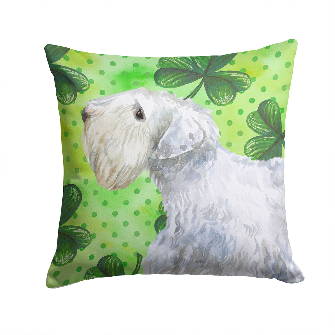 Buy this Sealyham Terrier St Patrick's Fabric Decorative Pillow BB9858PW1414