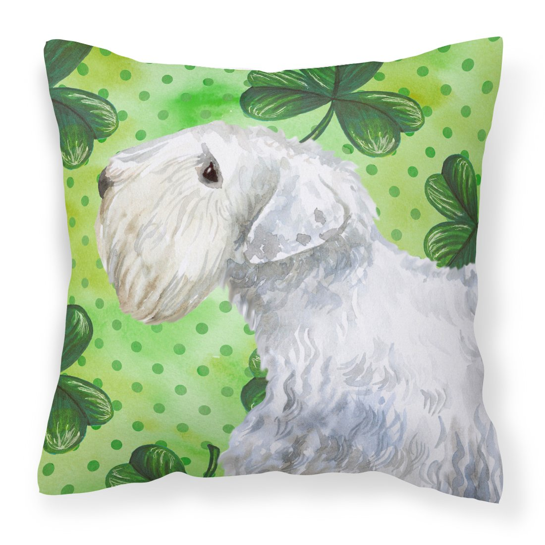 Buy this Sealyham Terrier St Patrick's Fabric Decorative Pillow BB9858PW1818