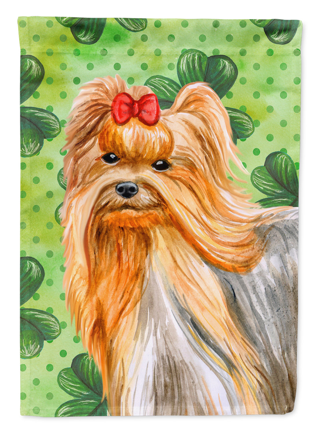 Yorkshire Terrier St Patrick's Flag Canvas House Size BB9859CHF by Caroline's Treasures