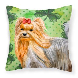 Buy this Yorkshire Terrier St Patrick's Fabric Decorative Pillow
