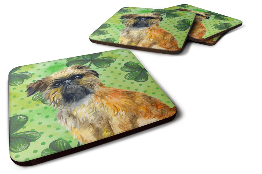 Buy this Brussels Griffon St Patrick's Foam Coaster Set of 4 BB9861FC