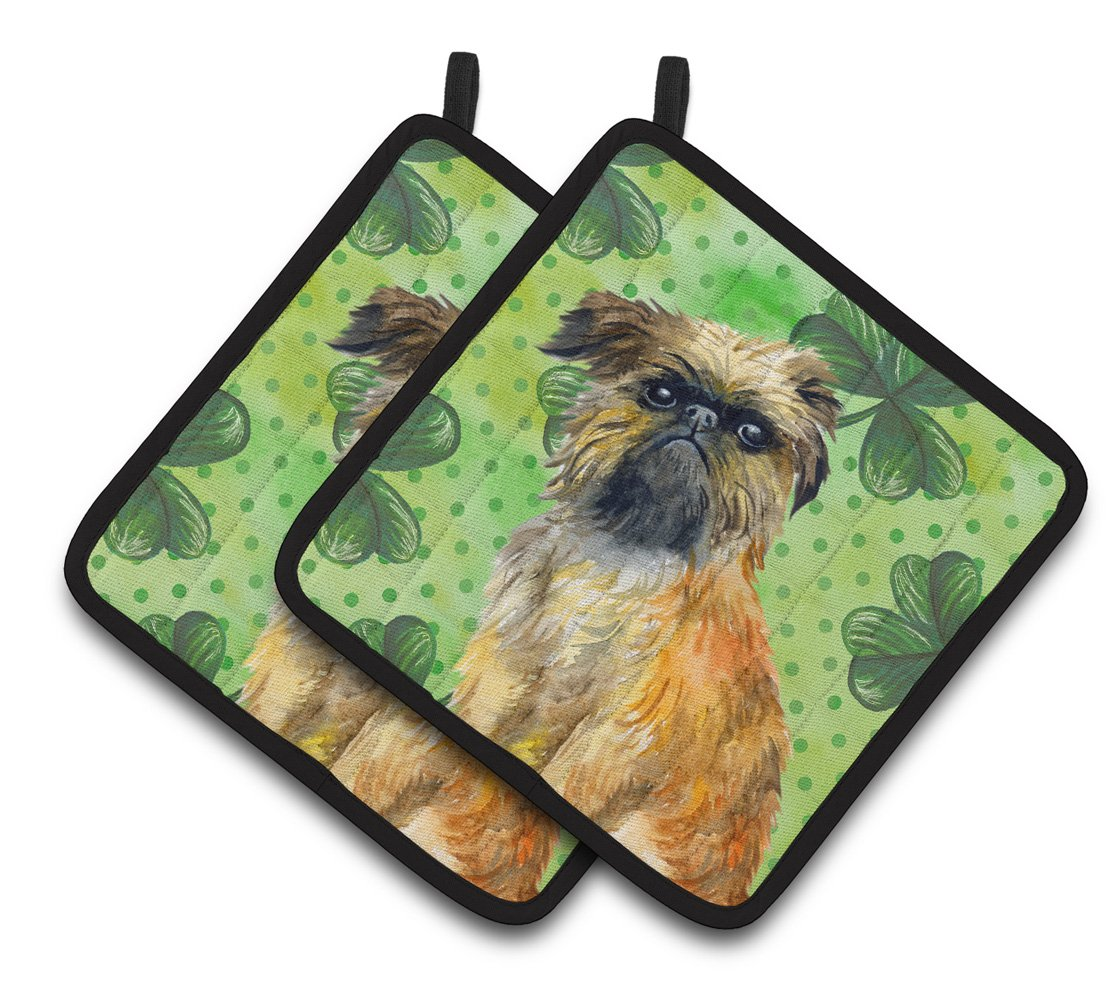 Brussels Griffon St Patrick's Pair of Pot Holders BB9861PTHD by Caroline's Treasures