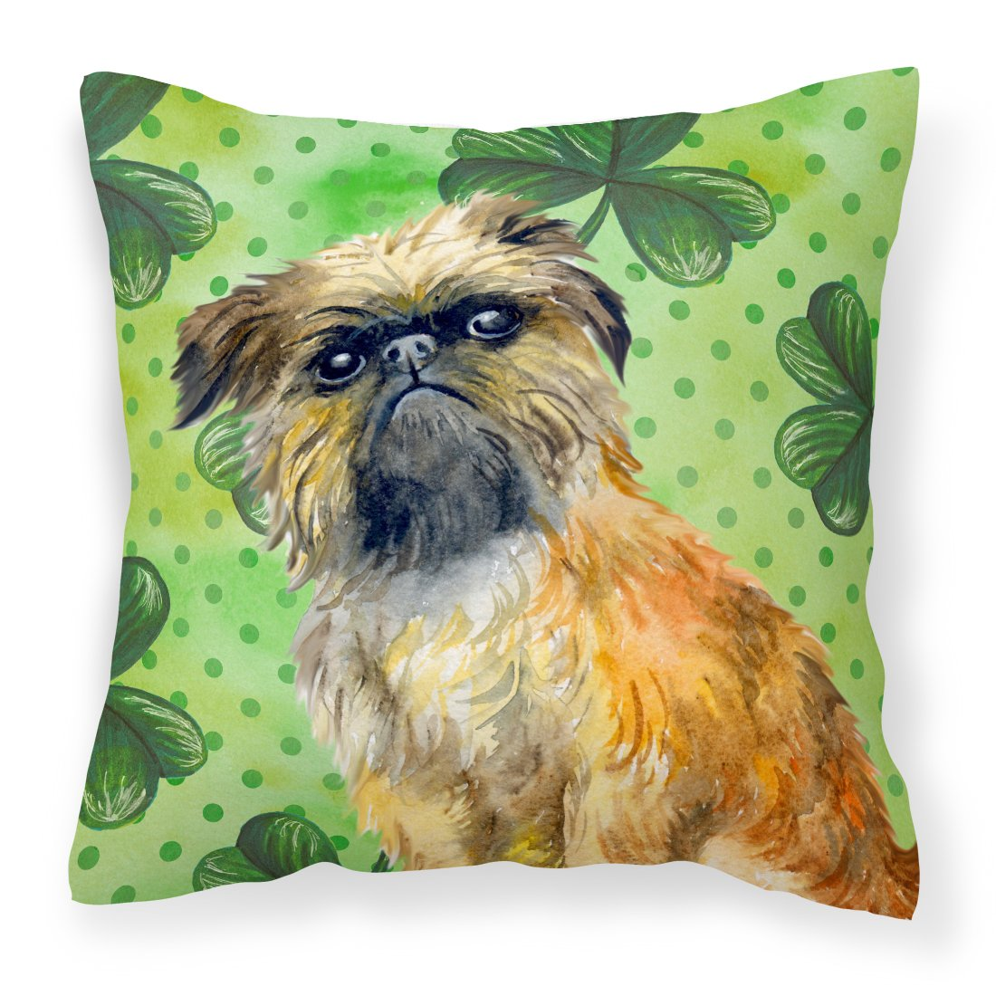 Buy this Brussels Griffon St Patrick's Fabric Decorative Pillow BB9861PW1818