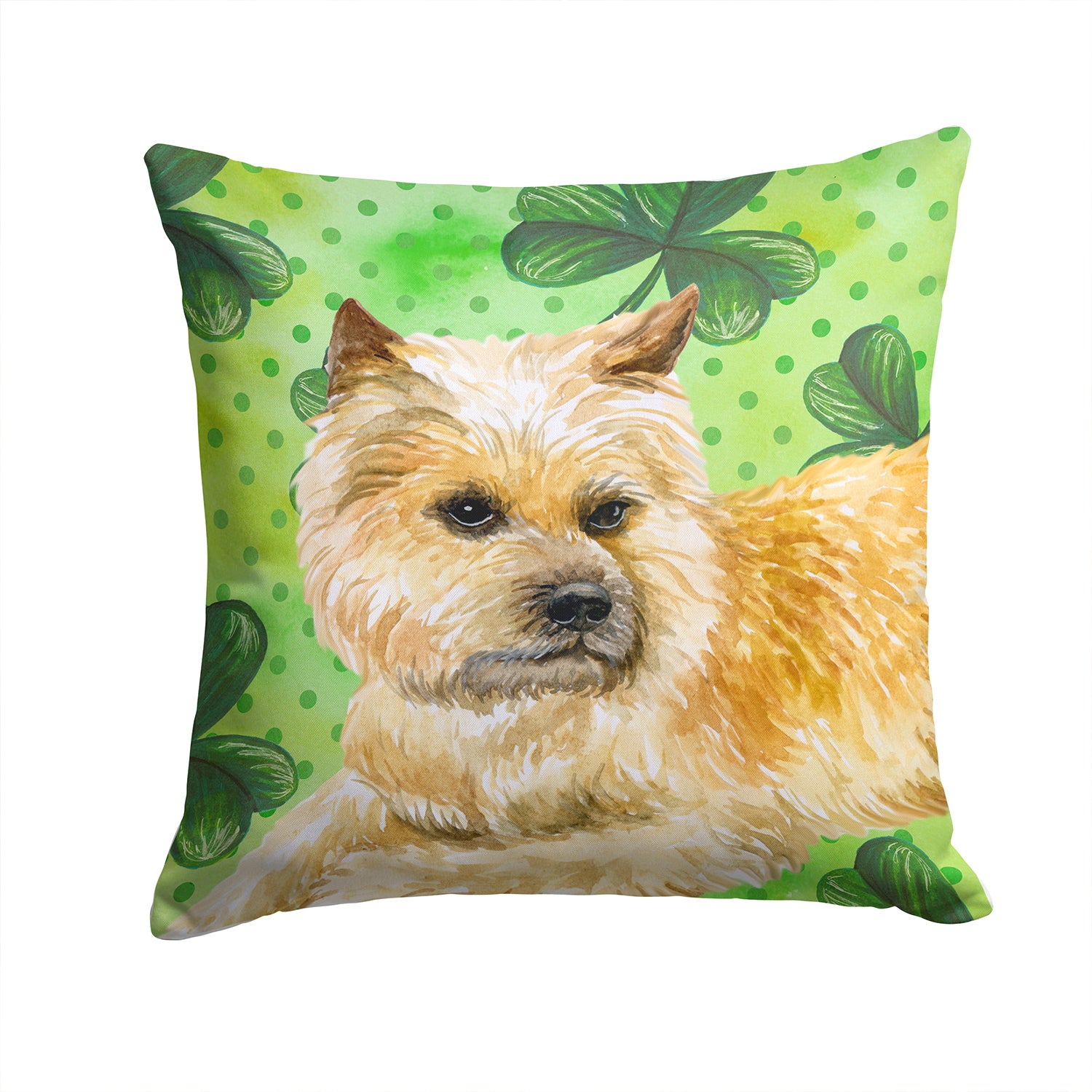 Buy this Cairn Terrier St Patrick's Fabric Decorative Pillow BB9864PW1414