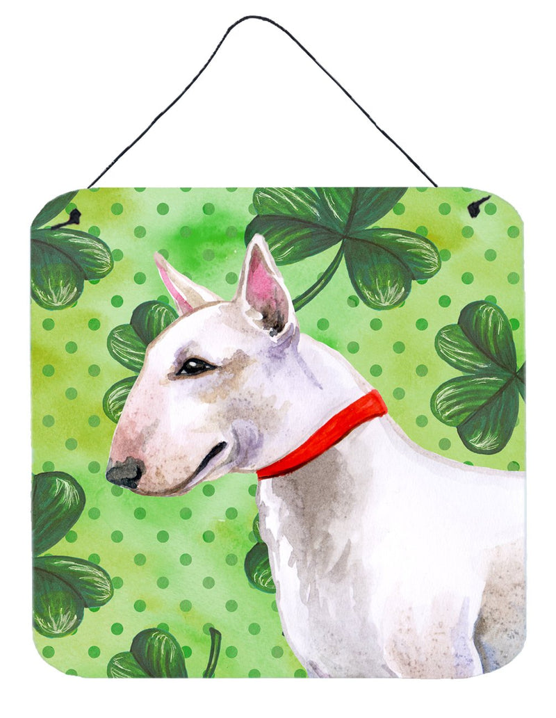 Buy this Bull Terrier St Patrick's Wall or Door Hanging Prints BB9867DS66