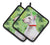 Buy this Bull Terrier St Patrick's Pair of Pot Holders BB9867PTHD