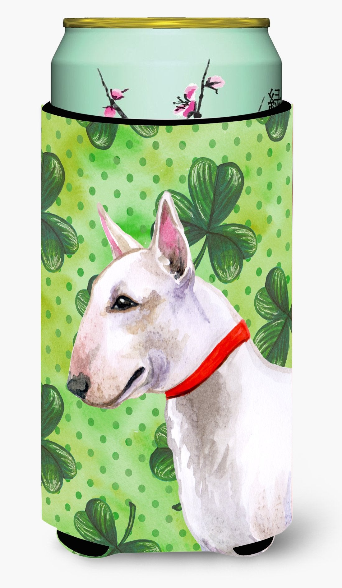 Bull Terrier St Patrick's Tall Boy Beverage Insulator Hugger BB9867TBC by Caroline's Treasures