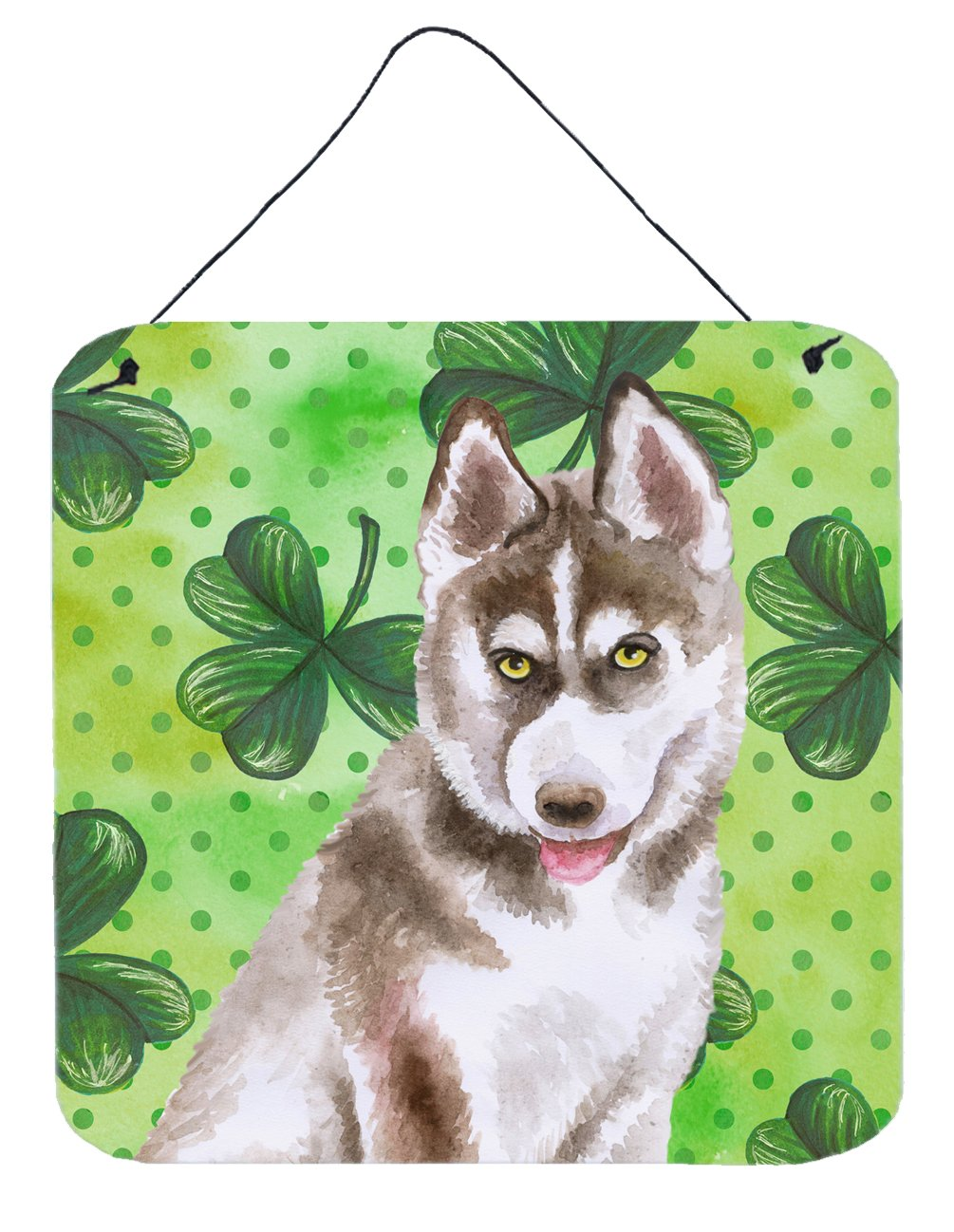Buy this Siberian Husky Grey St Patrick's Wall or Door Hanging Prints