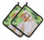 Afghan Hound St Patrick's Pair of Pot Holders BB9876PTHD by Caroline's Treasures