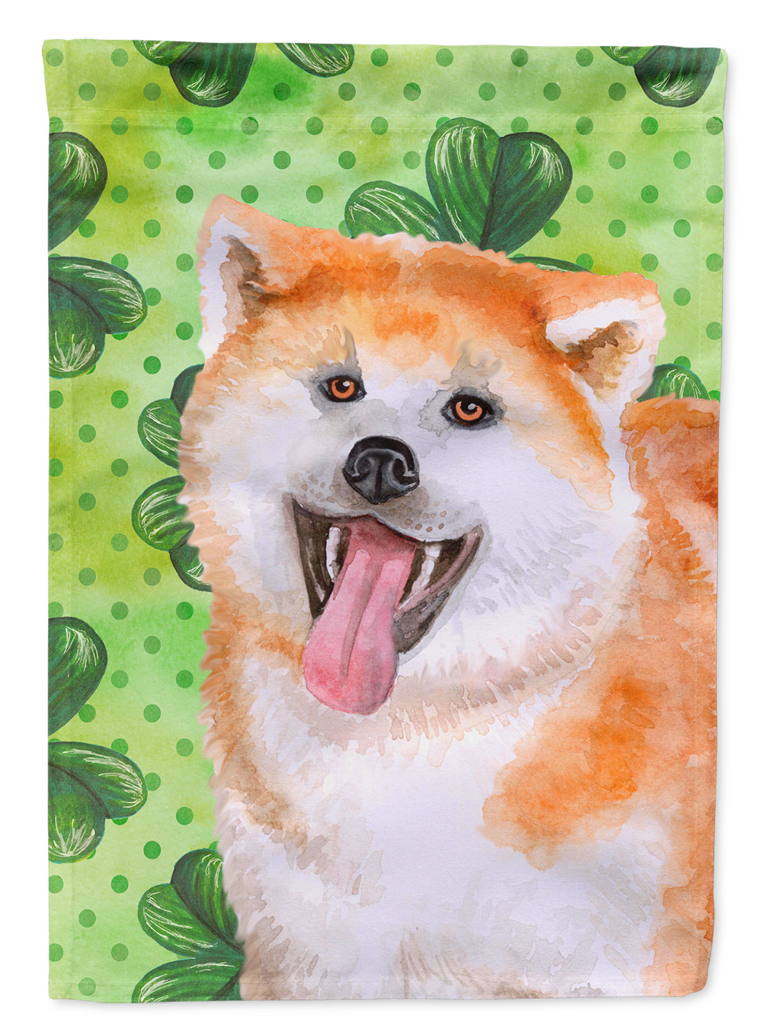 Akita St Patrick's Flag Canvas House Size BB9877CHF by Caroline's Treasures