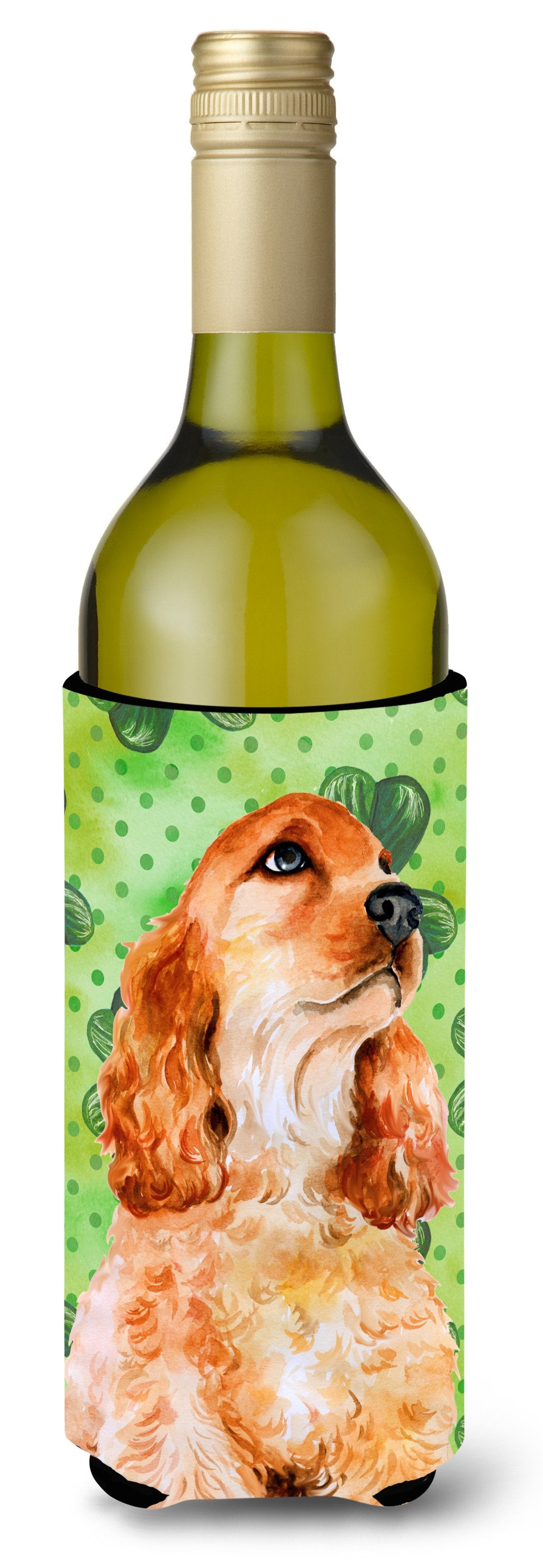 Cocker Spaniel St Patrick's Wine Bottle Beverge Insulator Hugger BB9880LITERK by Caroline's Treasures