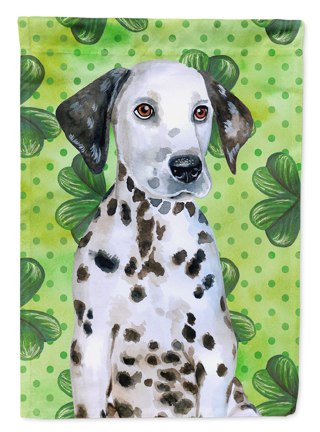 Dalmatian Puppy St Patrick's Flag Canvas House Size BB9882CHF by Caroline's Treasures