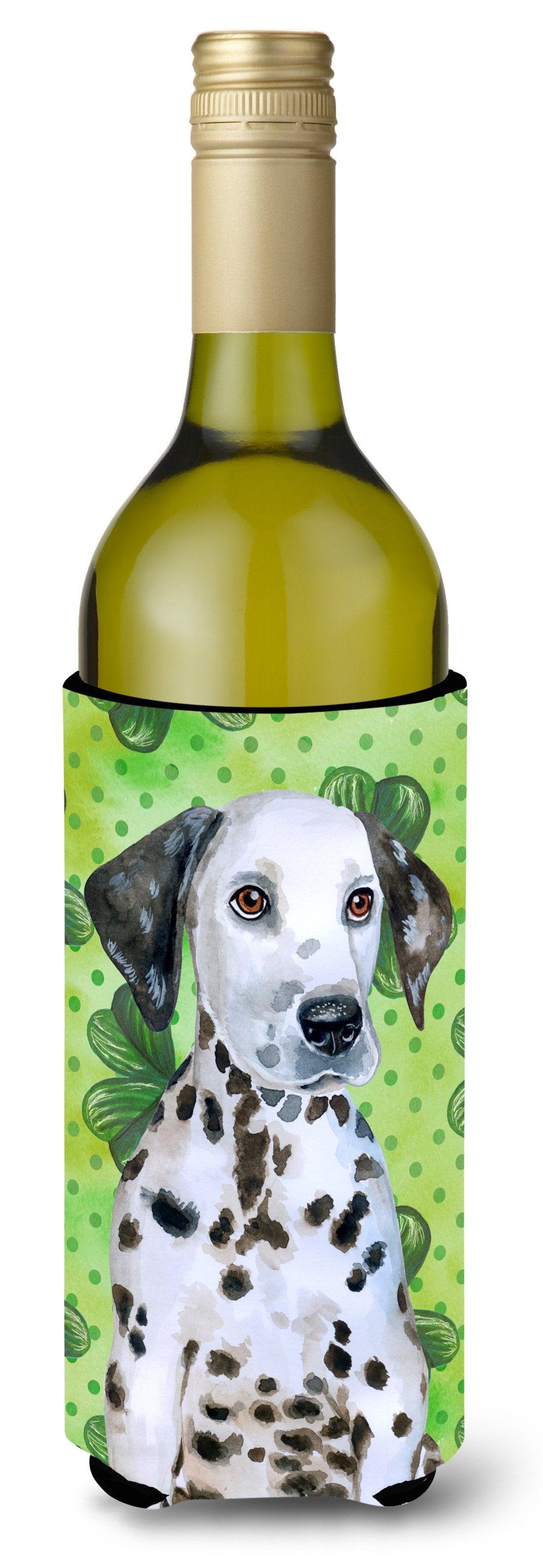 Dalmatian Puppy St Patrick's Wine Bottle Beverge Insulator Hugger BB9882LITERK by Caroline's Treasures