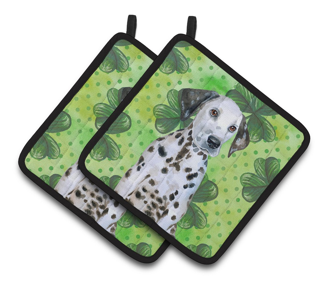 Dalmatian Puppy St Patrick's Pair of Pot Holders BB9882PTHD by Caroline's Treasures