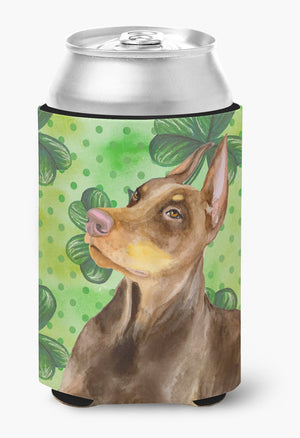 Buy this Doberman Pinscher St Patrick's Can or Bottle Hugger BB9883CC
