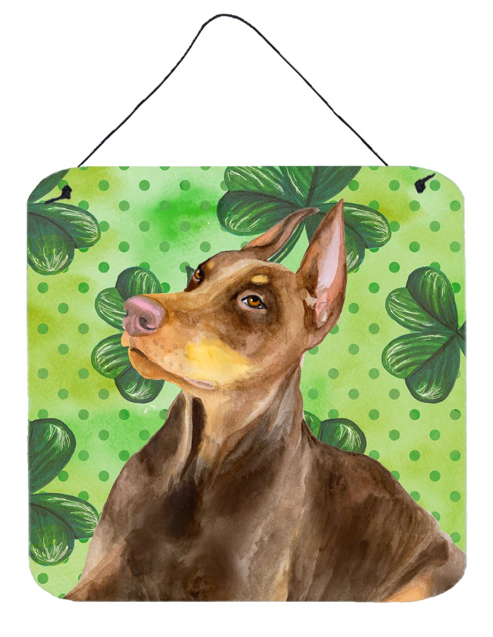 Buy this Doberman Pinscher St Patrick's Wall or Door Hanging Prints BB9883DS66