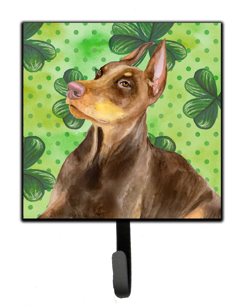 Buy this Doberman Pinscher St Patrick's Leash or Key Holder BB9883SH4